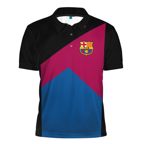 Мужская рубашка поло 3D  Фото 01, FC Barcelona #9