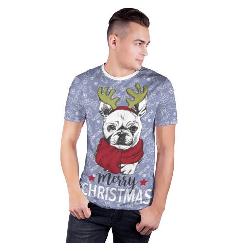 Мужская футболка 3D спортивная  Фото 03, Merry christmas