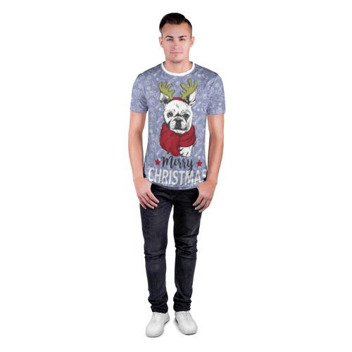 Мужская футболка 3D спортивная  Фото 04, Merry christmas