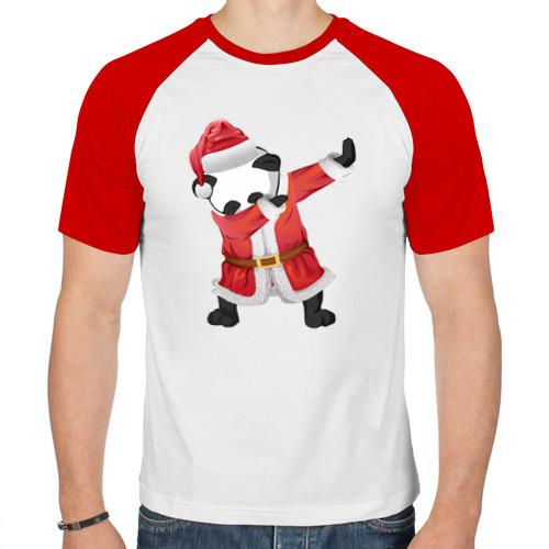 Мужская футболка реглан  Фото 01, Панда Санта-Клаус