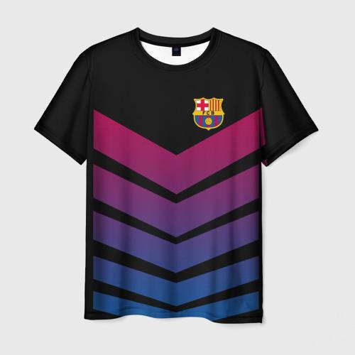 Мужская футболка 3D  Фото 01, FC Barcelona 2018 Arrow