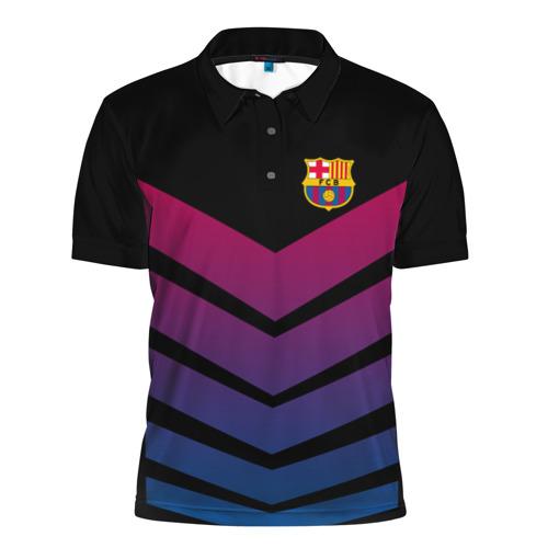 Мужская рубашка поло 3D FC Barcelona 2018 Arrow
