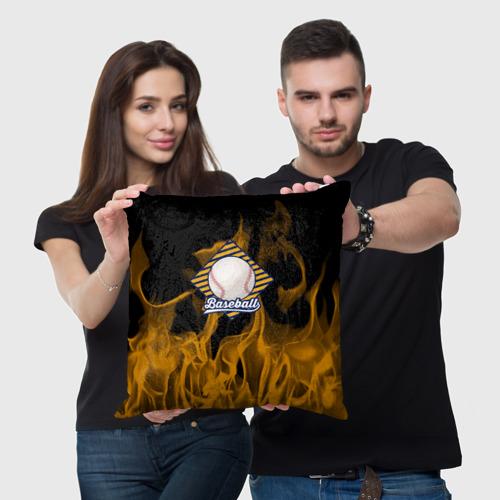Подушка 3D  Фото 03, Бейсбол в огне