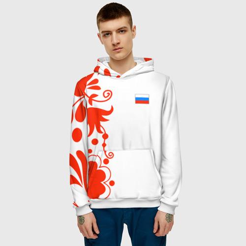 Мужская толстовка 3D  Фото 03, Russia - White Collection 2018