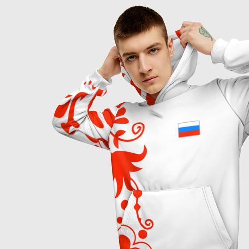 Мужская толстовка 3D  Фото 01, Russia - White Collection 2018
