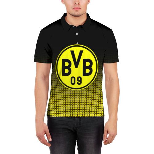 Мужская рубашка поло 3D  Фото 03, FC Borussia 2018 Original #1
