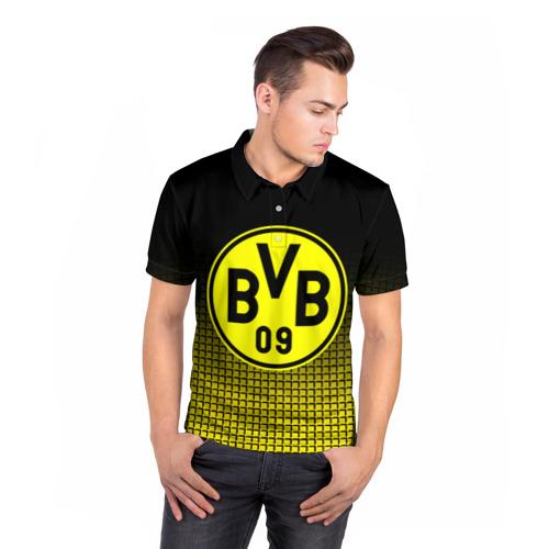 Мужская рубашка поло 3D  Фото 05, FC Borussia 2018 Original #1
