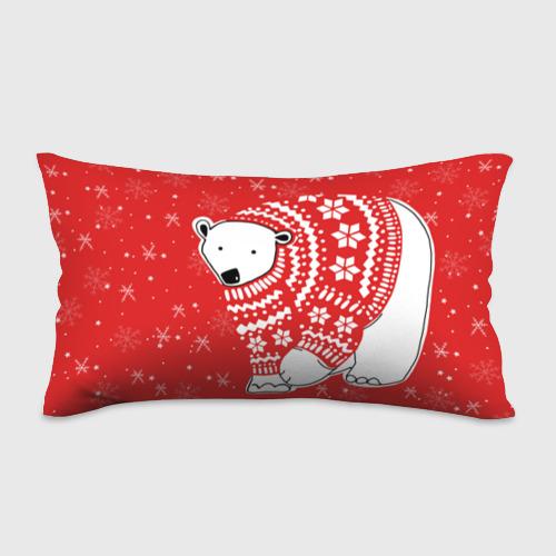 Подушка 3D антистресс Белый медведь в свитере Фото 01