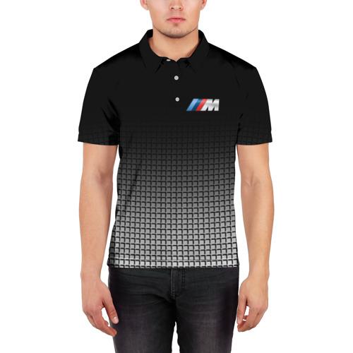 Мужская рубашка поло 3D  Фото 03, BMW 2018 Black and White III