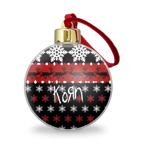 Ёлочный шар с блестками  Фото 01, Праздничный Korn