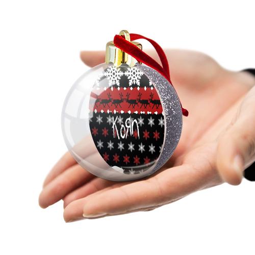 Ёлочный шар с блестками  Фото 03, Праздничный Korn