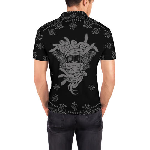 Мужская рубашка поло 3D  Фото 04, Горгона Медуза
