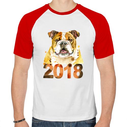 Мужская футболка реглан  Фото 01, Бульдог 2018