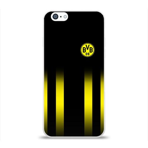 Чехол для Apple iPhone 6 силиконовый глянцевый  Фото 01, FC Borussia 2018 Line