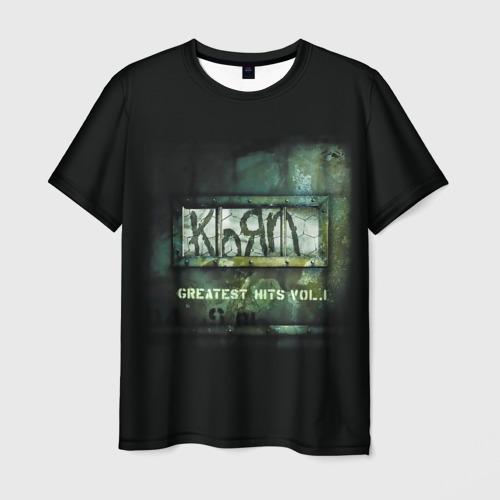 Мужская футболка 3D Korn, greatest hits vol.1