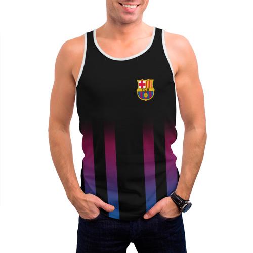 Мужская майка 3D  Фото 03, FC Barcelona Color Line