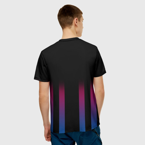 Мужская футболка 3D  Фото 02, FC Barcelona Color Line