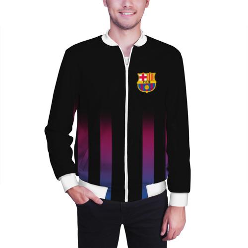 Мужской бомбер 3D FC Barcelona Color Line