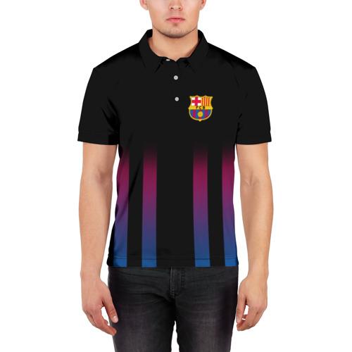 Мужская рубашка поло 3D  Фото 03, FC Barcelona Color Line