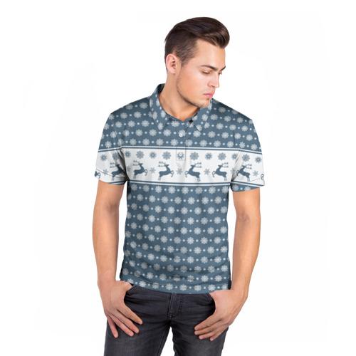 Мужская рубашка поло 3D  Фото 05, Свитер с оленями