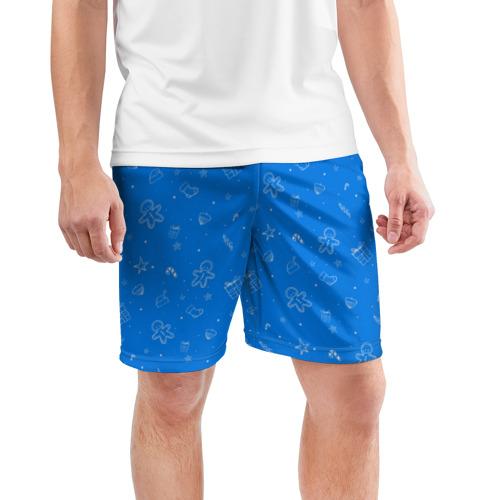 Мужские шорты 3D спортивные  Фото 03, Новогодний свитер
