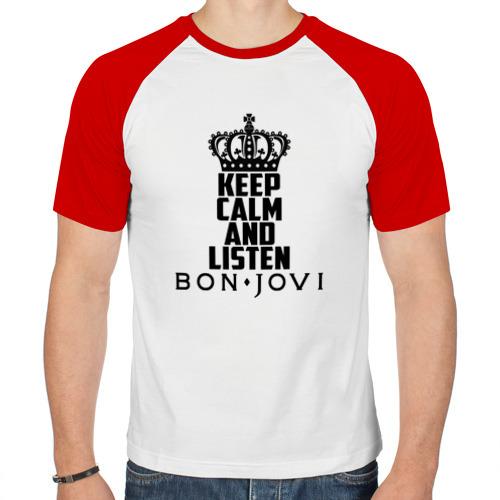 Мужская футболка реглан  Фото 01, Keep calm and listen BJ