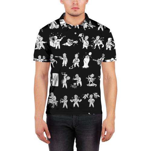 Мужская рубашка поло 3D  Фото 03, Фоллаут : Перки