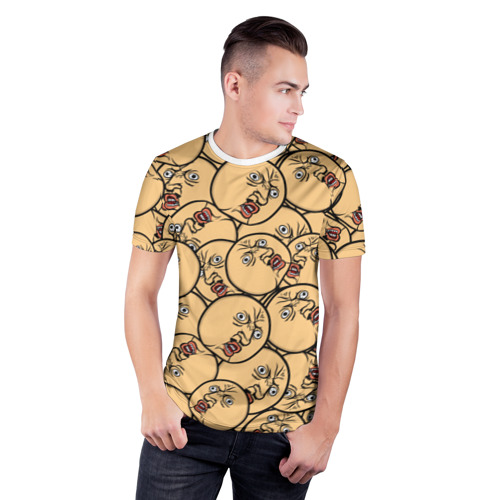 Мужская футболка 3D спортивная  Фото 03, MEME Y U no