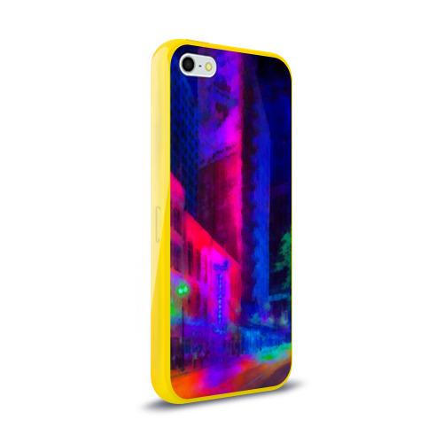 Чехол для iPhone 5/5S глянцевый Neon city Фото 01