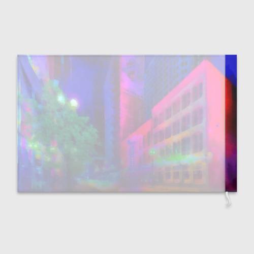 Флаг 3D Neon city Фото 01