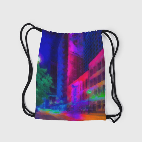 Рюкзак-мешок 3D Neon city Фото 01