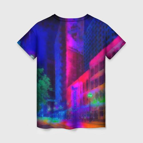 Женская футболка 3D Neon city Фото 01
