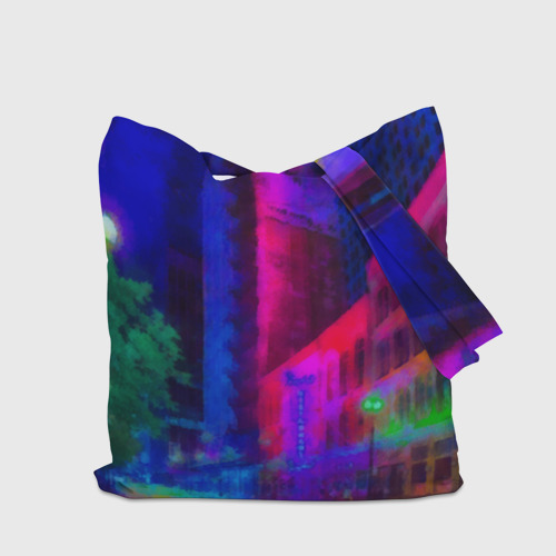 Сумка 3D повседневная Neon city Фото 01