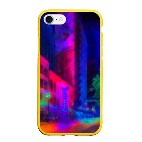 Чехол для iPhone 7/8 матовый Neon city Фото 01
