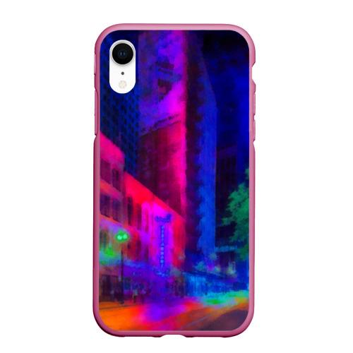 Чехол для iPhone XR матовый Neon city Фото 01