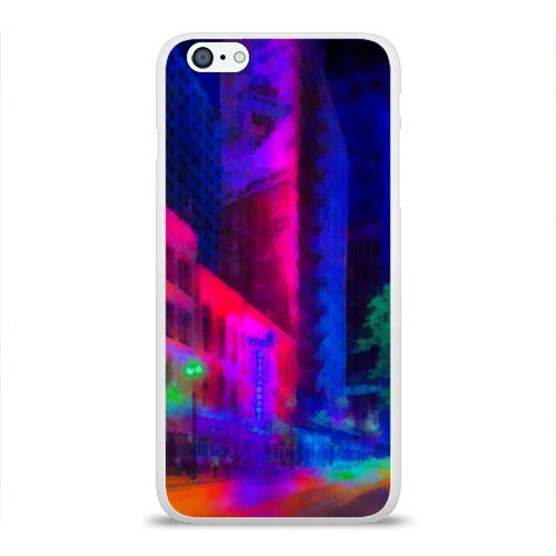 Чехол для iPhone 6/6S Plus глянцевый Neon city Фото 01