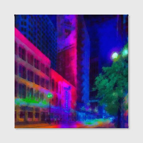 Холст квадратный Neon city Фото 01