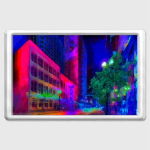 Магнит 45*70 Neon city Фото 01