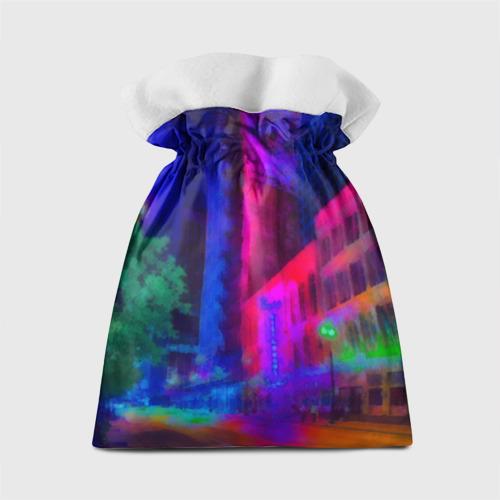 Подарочный 3D мешок Neon city Фото 01