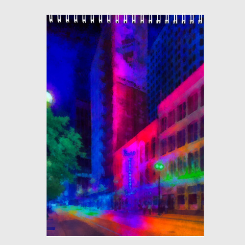Скетчбук Neon city Фото 01