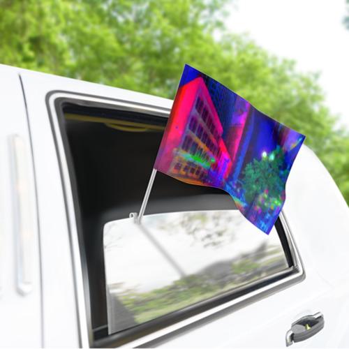 Флаг для автомобиля Neon city Фото 01