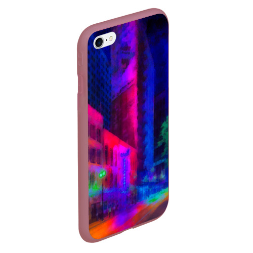Чехол для iPhone 6Plus/6S Plus матовый Neon city Фото 01
