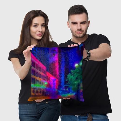 Подушка 3D Neon city Фото 01