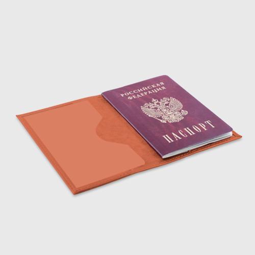 Обложка для паспорта матовая кожа Neon city Фото 01