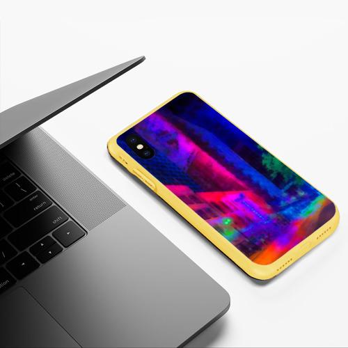 Чехол для iPhone XS Max матовый Neon city Фото 01