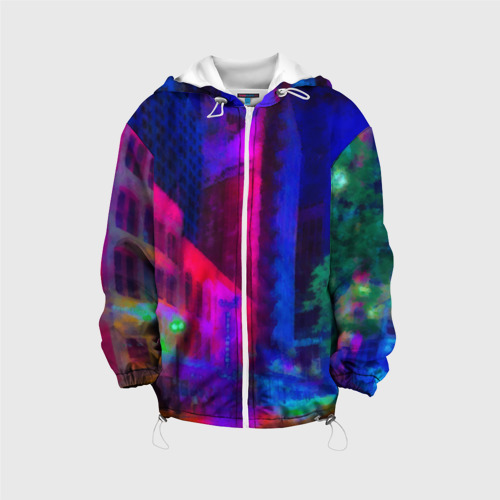 Детская куртка 3D  Фото 01, Neon city