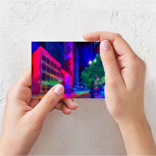 Поздравительная открытка Neon city Фото 01