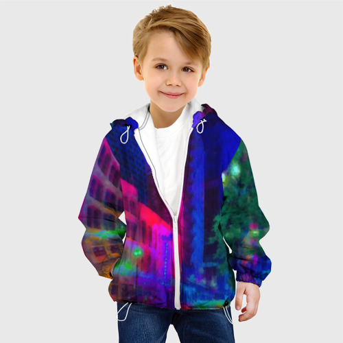 Детская куртка 3D  Фото 03, Neon city