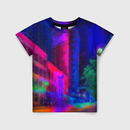 Детская футболка 3D Neon city Фото 01