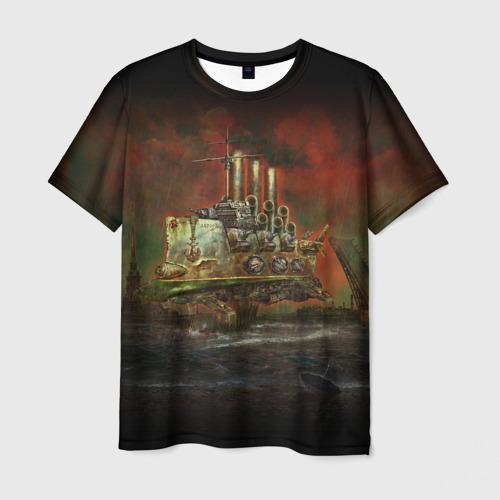 Мужская футболка 3D Крейсер Аврора